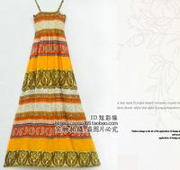 Ultra long bohemia style full dress beach dress plus size one-piece dress