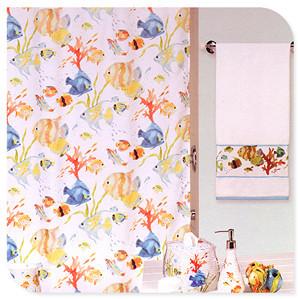 White fish bathroom terylene shower curtain partition183*183cm