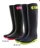 Colorfull High Quality  Matt Color    Fashion Designer Women's PVC Rainboots Rain Water Boots Shoes