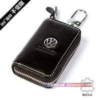 Genuine Leather Key Bag For VW Keychain Auto Key Case Bag Car Logo key  Holder Key Ring  Free shipping