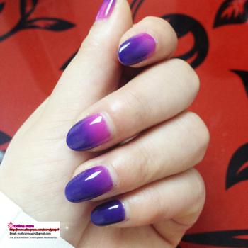 free shipping 15ML  change colors nail glue, Chameleons UV gel