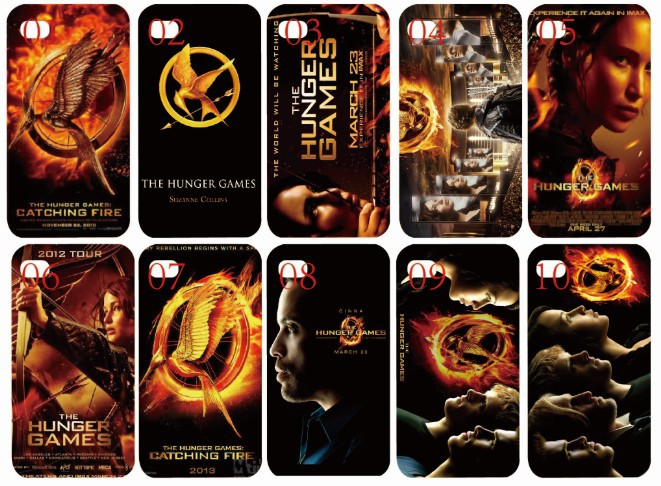 New arrival skin design The hunger games white case hard back cover for iphone 4 4th 4s 10PCS/lot case+free shipping(China (Mainland))