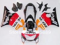 red orange white black for HONDA CBR600F4 99-00 99 00 CBR 600 F4 1999-2000 1999 2000 ABS motorcycle fairing kit