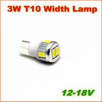 4pcs Free shipping Power 3W 6SMD-5630  T10 W5W 194 168  white LED Width Lamp  car wedge light bulb
