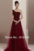 Free Shipping Coniefox 2013 New Long Design Sexy A-line One Shoulder Brand Elegant Evening Dresses Prom Gowns Formal Dress 30111