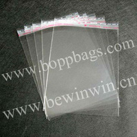 clear PP Bag for packing bracelet (14x19.5cm) with self adhesive seal with slip cover for retail or wholesale