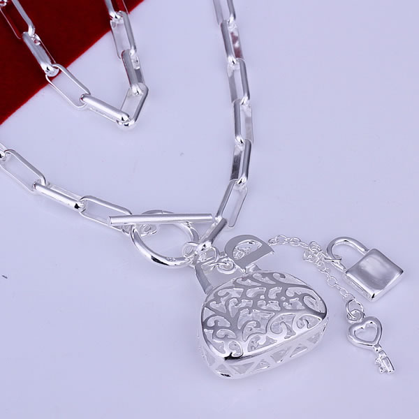 Lose money Promotion fashion silver necklace 925 silver necklace, 925 silver fashion jewelry Bag Pendants Necklace N044(China (Mainland))