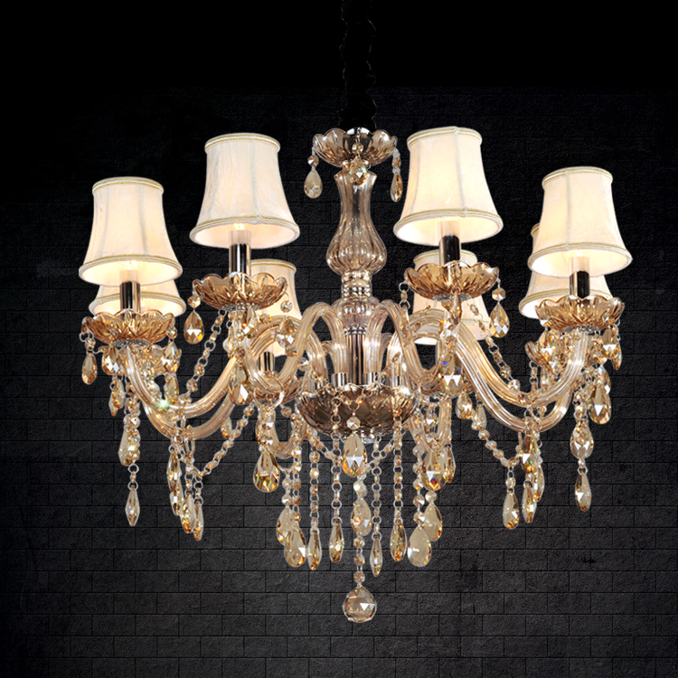 Fashion brief crystal lamp living room lights restaurant lamp k9 crystal pendant light lb75(China (Mainland))