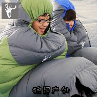 Wild outdoor lengthen duck down cotton sleeping bag hly-s2008-1(China (Mainland))