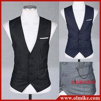 Fashion european style vests for man's classics business vest,mens 4 colors slim fit vests Asia S-XL C891