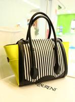Leleshop 2013 personalized neon color block handbag bars women's casual messenger bag handbag