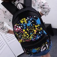 Print school bag backpack preppy style travel bag canvas laptop bag