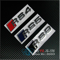 """Buy 2pcs - 20% OFF!!! Free Shipping """"RS4 RS5 RS8"""" Logo Tuning Stylish Label Car Labels Car Stickers"""