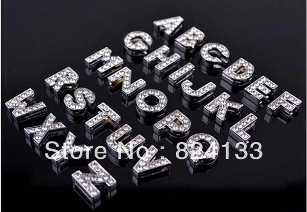 300pcs/lot DIY Slider Letters/Rhinestone Letter Dog Charm/10mm Slider Letters,Fast Free Shipping(China (Mainland))