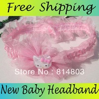New Free Shipping Animal Design Cute Cat Baby Headband Kid Infant Headdress Hair Accessories 24PCS