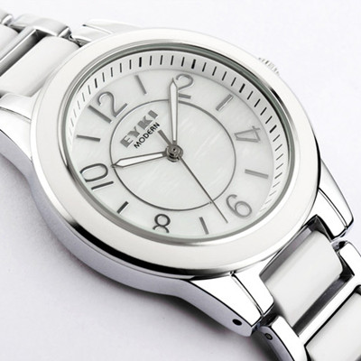 Eyki ladies watch fashion ceramic table women&#39;s watch waterproof white ladies watch(China (Mainland))