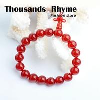 Red 5 red agate bracelet lovers belt gourd head Women red