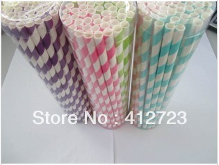 New arrivals !100 colors for choice paper straws,drinking straws wholesale &amp;retail,PVC boxed paper drinking straws free shipping(China (Mainland))