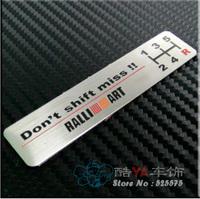"Free Shipping  ""Ralli Art"" Aluminium Plate Tuning Stylish Label Car Labels"
