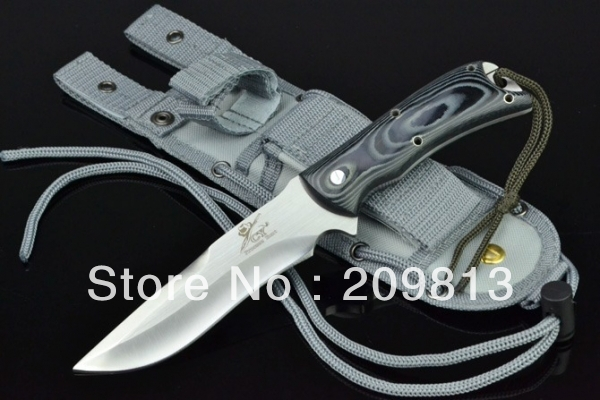 Forest chaser Tactical Camping Knives Hunting Fixed Blade Knife 7CR7MOV blade 59HRC with Micarta Handle(China (Mainland))
