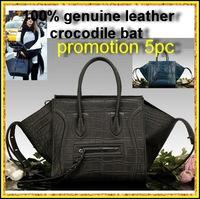 Brand ears Genuine Crocodile leather women's handbag 2014 Hot sale bat smiley vintage bags  women Messenger bag genuine leather