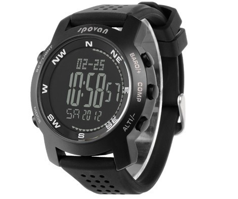 SPOVAN sports Hiking watch,altitude meter,barometer,thermometer,weather forecast,stopwatch,Professional outdoor products(China (Mainland))
