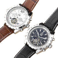Orkina wheel watch automatic machinery genuine leather watchband mens watch male watch