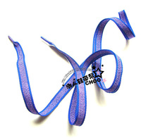 CX01 wholesale 20pairs/lot 2013 fashion Shoelaces flashing blue shoelaces for causal shoes Women flat shoelaces 110cm
