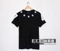 hot sell men giv Embroidery stars t-shirt cotton short sleeve t-shirt shirts tops tank tees
