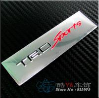 "Free Shipping Aluminium Toyota ""TRD"" Plate Stylish Label Car Labels"