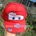 High quality Pixar cars Car Kid Child Hat Baseball cap Red Baby Boy Hats Cap Retail Free shipping Dropship(China (Mainland))