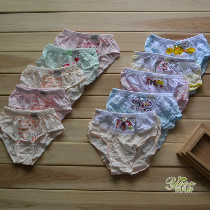 100% laciness cotton child panties thin 100% cotton panties child panties girls clothing(China (Mainland))