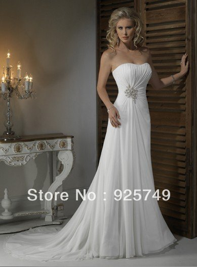 2013 Buy Hot Sell In Stock Cheap Elegant Fashion Designer Discount Destination Unique Beach Bridal Wedding Dresses/Gown On Sale(China (Mainland))