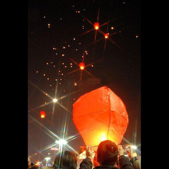 Mulan'S 30shaped UFO Lamp Wishing Sky Lantern Chinese Lantern Birthday Xmas Party Wedding By EMS