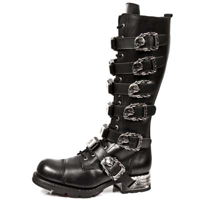 Newrock gaotong tooling metal male motorcycle boots fashion boots personality mr009-s1(China (Mainland))
