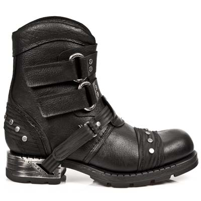 Newrock black short rivet motorcycle boots tooling boots outdoor fashion mr016-c1(China (Mainland))