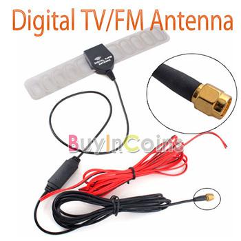New Car Auto TV Booster FM Radio Windshield Mount Digital DVB-T Antenna Aerial   [10277|01|01]