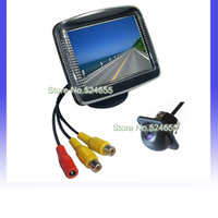 Hat style Car camera parking system Parking Assistance 3.5 inch lcd tft color monitor+Car back up camera Free shipping