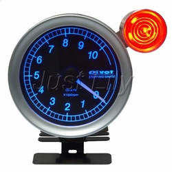 Pivot 80mm F0 Auto Gauge Tachometer Stepping Gauge with Shift Light Black Face Auto Meter(China (Mainland))