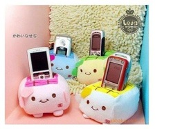 2013 Free shipping Hot sale plush stuffed Compatible Tofu Cellphone Holder coin purse pouch bag for ladies wh-042(China (Mainland))