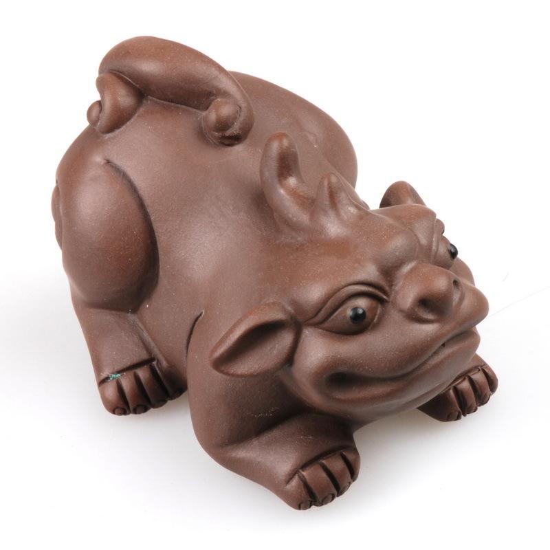Pet Heterochrosis Purple Pi Xiu Lucky Evil Pig Decoration Black Mud