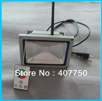 New invention  RF control  rgb  30w led flood light control range 100m AC85V/265V  used for tunnels and  mines lighting