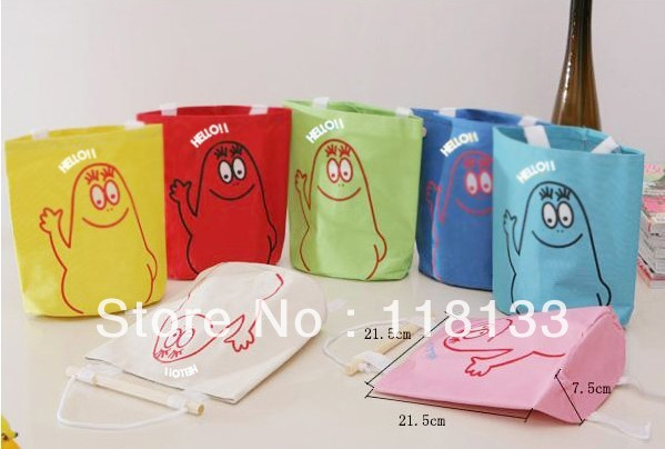Cartoon Pouch Wall Hanging Storage Bag door back Pockets container box holder Gifts Free Shipping(China (Mainland))