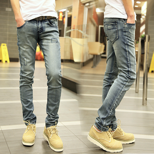 Men Skinny Jeans Fashion Men slim pants Personalized
