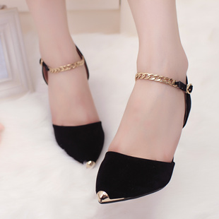 2013 fashion female sandals metal female high-heeled shoes pointed toe shoes thin heels shoes candy color women's princess shoes(China (Mainland))