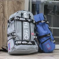 Bboy hip-hop skateboard bag hiphop preppy style sports bag student backpack
