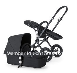 Bugaboo 'Cameleon' All-Black Baby Stroller Special Edition.(China (Mainland))
