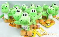 Free shipping wholesale 12pcs/lot High Quality Soft Plush New Super Mario Bros sitting Yoshi Doll Soft Toy