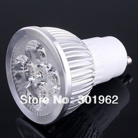 5pcs/Lot  on sales! GU10 4W LED LAMP 4x1W High Power AC 85-265V Spotlight