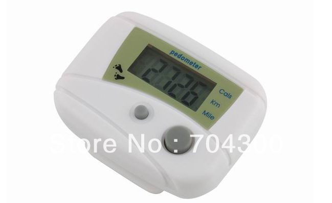LCD Pedometer Step Calorie Counter Distance Pedometers Black+White colour(China (Mainland))